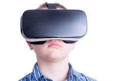Child watching something on virtual headset Royalty Free Stock Photos