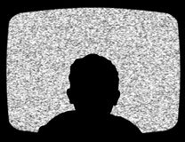 Child watching tv. Illustration of a child watching Television Stock Photo
