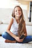 Child watching tv Royalty Free Stock Image