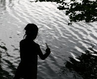 Child  and water Royalty Free Stock Photography
