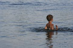 Child in water Royalty Free Stock Photo