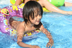 Child  and water Stock Images