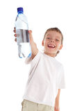 Child with a water bottle Royalty Free Stock Photography