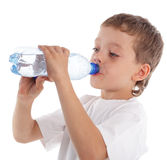 Child with a water bottle Stock Photography
