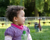 Child with water bottle Stock Photos