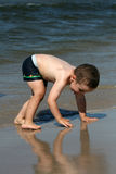Child, water and fun. Beach fun. Royalty Free Stock Photography