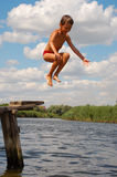Child Water Fun Happy Jump Royalty Free Stock Images