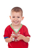 Child with water in glass Stock Photography