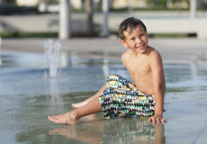 Child at a water park Stock Photography