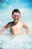 Child and water waves Royalty Free Stock Photography
