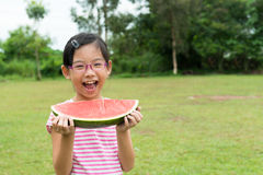 Child with watermelon Royalty Free Stock Photos