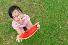 Child with watermelon Royalty Free Stock Photography