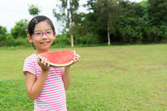 Child with watermelon Stock Photo