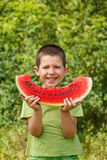 Child with watermelon Stock Image