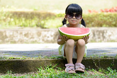Child with watermelon Royalty Free Stock Photo