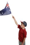 Child waving Australian flag Royalty Free Stock Photos