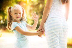 Child waving Royalty Free Stock Photo