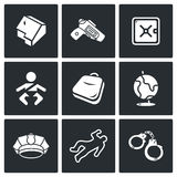 Child and weapons icons. Vector Illustration. Stock Photo