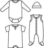 Child wear. Newborn child wear. Vector illustration Stock Image