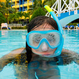 Child wearing a diving mask Royalty Free Stock Photo