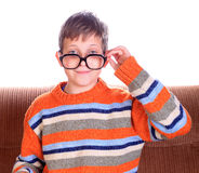 Child wearing eyeglasses Stock Photos