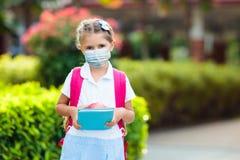 Free Child Wearing Face Mask. Virus Outbreak Stock Photo - 184300400