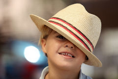 Child wearing a Fedora Royalty Free Stock Photography