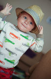 Child wearing a fedora hat Royalty Free Stock Photo