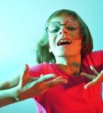 Child wearing glasses Stock Photo