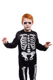Child wearing halloween costume. Studio portrait isolated over white background Stock Images