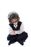 Child wearing headphones Royalty Free Stock Image