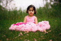 Child wearing pettiskirt Stock Image