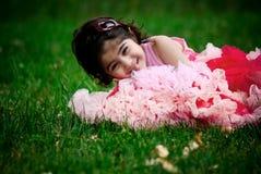 Child wearing pettiskirt Stock Images