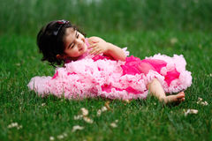 Child wearing pettiskirt Stock Images