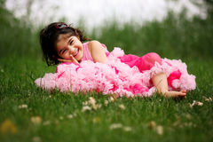 Child wearing pettiskirt Royalty Free Stock Photo
