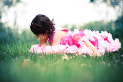 Child wearing pettiskirt Stock Photos