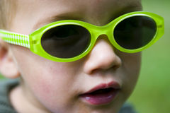 Child wearing sunglasses Royalty Free Stock Photography