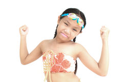 Child wearing swimsuit. Royalty Free Stock Photos