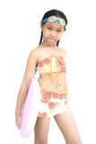 Child wearing swimsuit. Royalty Free Stock Photography