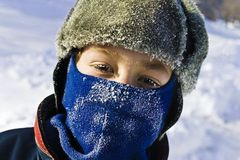 Child Wearing Winter Accessories Stock Photography