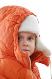Child wearing winter clothing Royalty Free Stock Photo