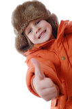 Child wearing winter clothing Royalty Free Stock Photography