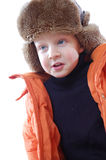 Child wearing winter clothing Stock Photos