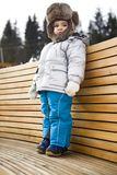 Child wearing winter hat Royalty Free Stock Photography