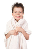 Child with wet hair Stock Photo