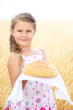 Child in the wheat field Royalty Free Stock Photography