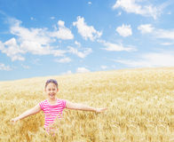 Child and wheat Royalty Free Stock Photos