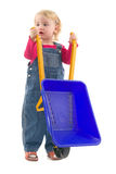 Child with wheelbarrow Stock Photos