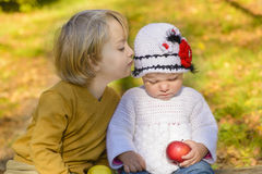Child Whisper Stock Photography