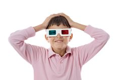 Child whit 3d glasses Stock Photography